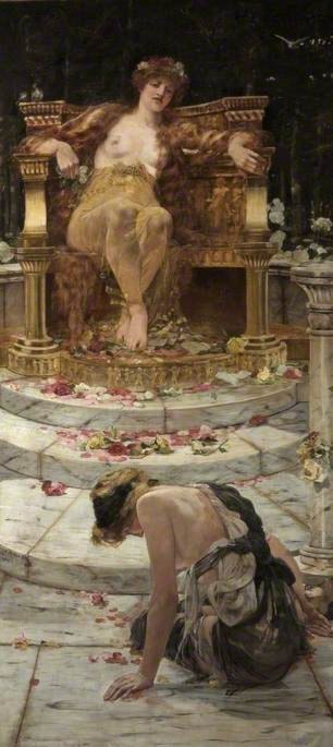 Psyche at the Throne of Venus by Edward Matthew Hale