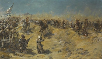 Charge of the 21st Lancers at Omdurman, 2 September 1898 by Edward Matthew Hale