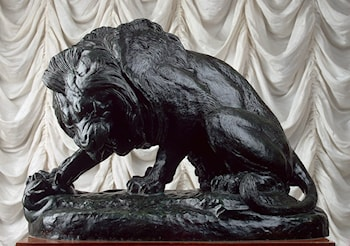 Lion and Serpent by Antoine-Louis Barye