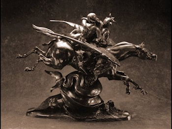 Roger and Angelica on the Hippogriff by Antoine-Louis Barye