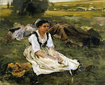 Oil Study for Les Foins by Jules Bastien-Lepage