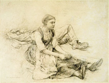 Study for Les Foins by Jules Bastien-Lepage