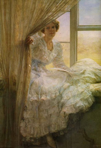At the Window by Anna Alma-Tadema