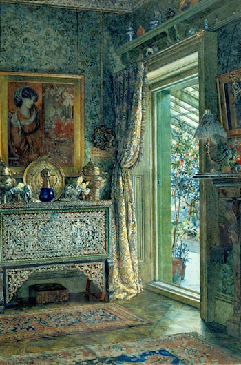 Drawing Room, 1a Holland Park by Anna Alma-Tadema