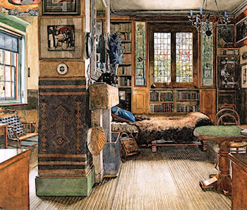Sir Lawrence Alma-Tadema's Study in Townshend House, London by Anna Alma-Tadema