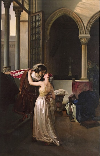 The Last Goodbye of Romeo and Juliet by Francesco Hayez