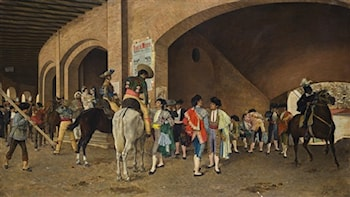 Preparing for the Corrida by Juan Joaquin Agrasot
