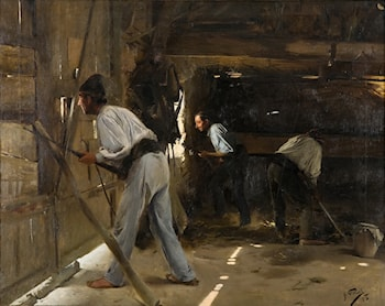 The Defence of the Hut by Antonio Fillol Granell