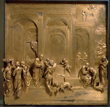 Jacob and Esau by Lorenzo Ghiberti