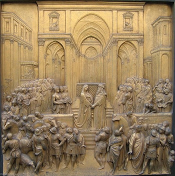 Solomon and the Queen of Sheba by Lorenzo Ghiberti