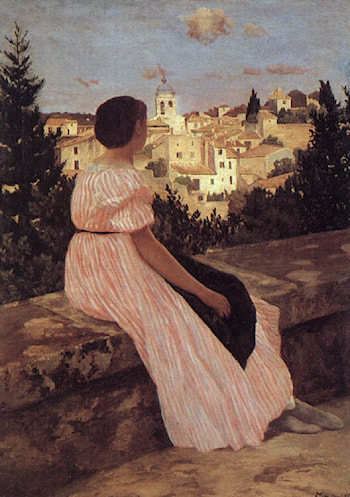 The Pink Dress by Frederic Bazille