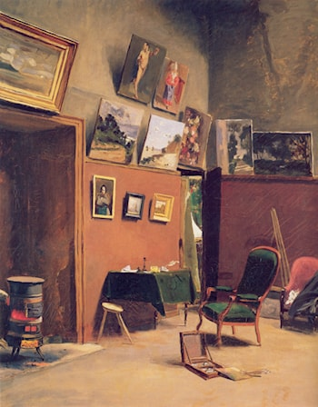 Studio in the rue de Furstenberg by Frederic Bazille