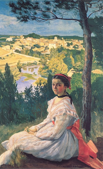 View of the Village by Frederic Bazille