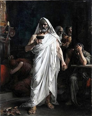 Themistocles Drinking Poison by Henri Camille Danger