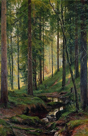 Brook in a Forest by Ivan Shishkin
