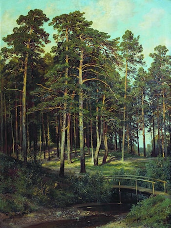 Bridge in the Forest by Ivan Shishkin