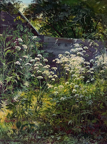 Corner of an Overgrown Garden by Ivan Shishkin