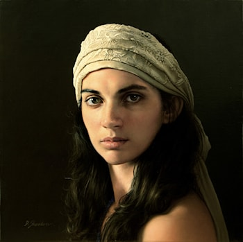 Head Study with White Scarf ­ Alexis by Duffy Sheridan