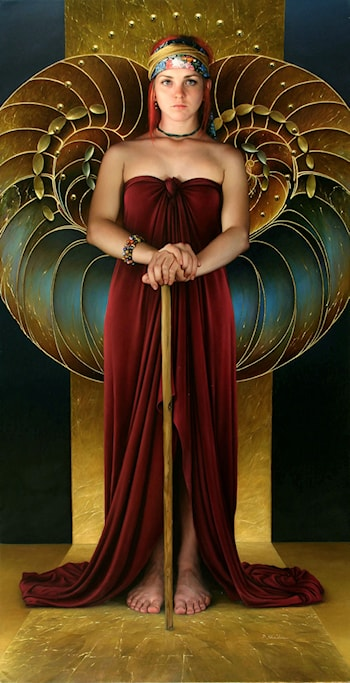 Whereupon the Maid of Heaven Looked out of her Exalted Chamber by Duffy Sheridan