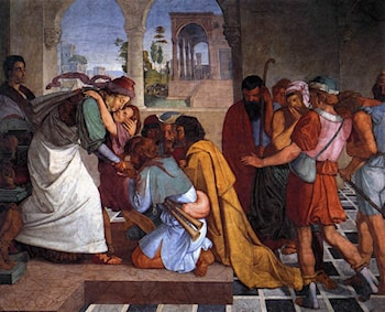 The Recognition of Joseph by his Brothers by Peter von Cornelius