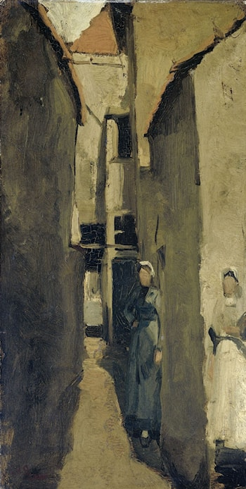Neighborhood Street in The Hague or Scheveningen by George Hendrik Breitner
