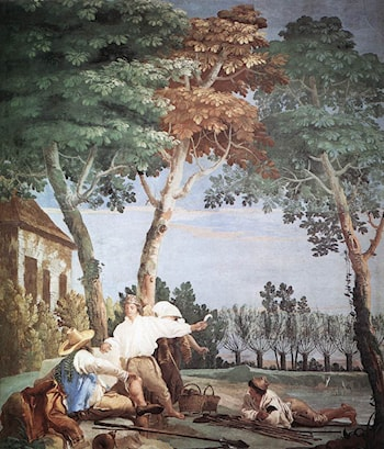 Peasants at Rest by Giovanni Domenico Tiepolo