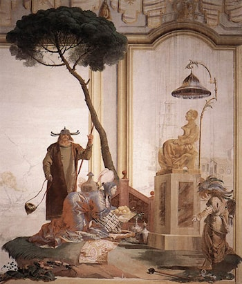 Offering of Fruits to Moon Goddess by Giovanni Domenico Tiepolo