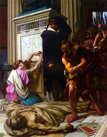 The Death of Demosthenes by Camille Felix Bellanger