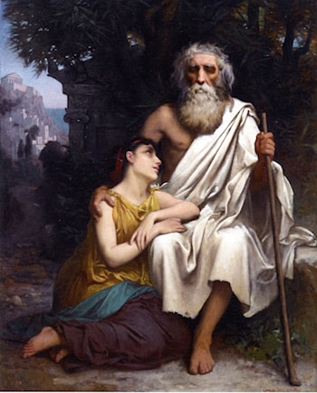 Oedipus and Antigone by Camille Felix Bellanger