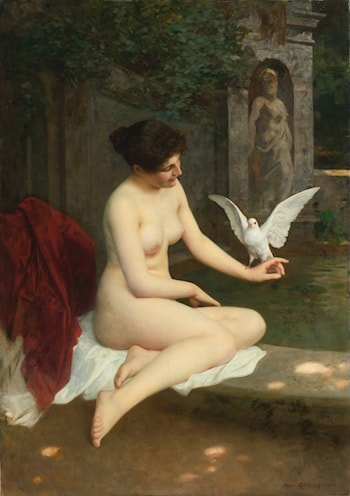 At the Fountain by Albert Ritzberger