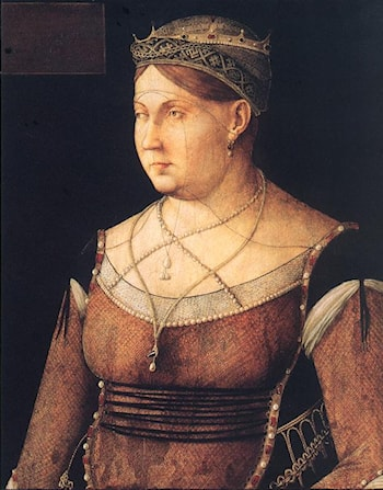 Portrait of Catharina Cornaro, Queen of Cyprus by Gentile Bellini