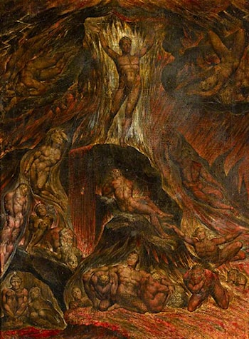 Satan Calling Up His Legions (from John Milton's 'Paradise Lost') by William Blake