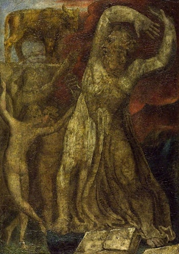 Moses Indignant at the Golden Calf by William Blake