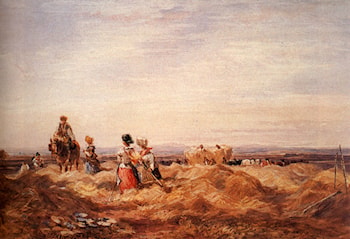 In The Hayfield by David Cox