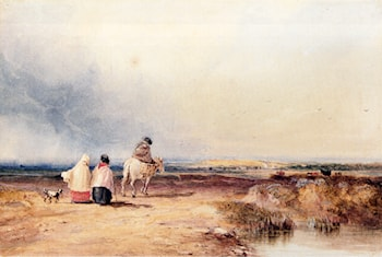Travellers On A Country Track by David Cox
