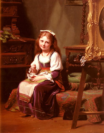 The First Cherries by Fritz Zuber-Buhler