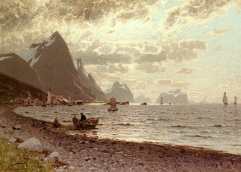 The Norwegian Fjord by Adelsteen Normann