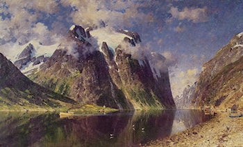 The Fjord by Adelsteen Normann