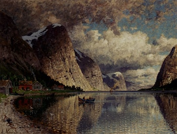 A Cloudy Day On A Fjord by Adelsteen Normann