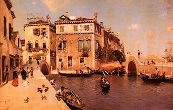 A Venetian Afternoon by Martin Rico y Ortega