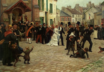 The Wedding Procession, Epinay sur Seine by Gabriel Charles Deneux