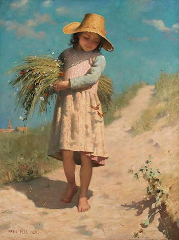The Young Gleaner by Paul Peel