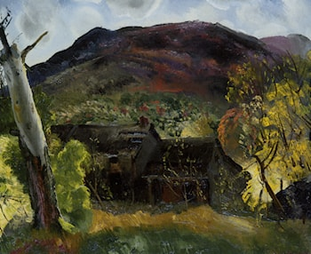 Blasted Tree and Deserted House by George Wesley Bellows