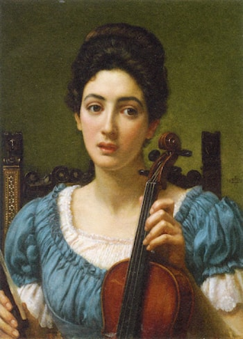The Violinist by Edward John Poynter