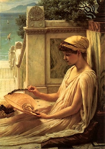 On the Terrace by Edward John Poynter