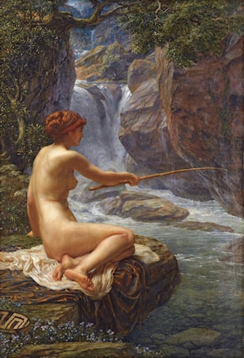 Fishing, the nymph of the stream by Edward John Poynter