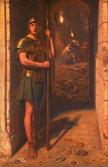 Faithful Unto Death by Edward John Poynter