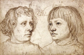 Ambrosius and Hans Holbein by Hans Holbein