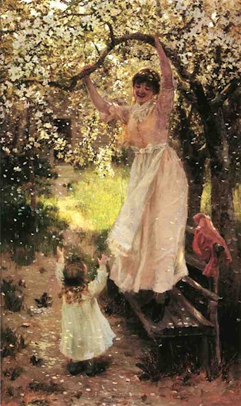 Falling Apple Blossoms by Hamilton Hamilton