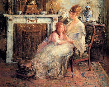 Mother And Daughter by Edward Verschaffelt